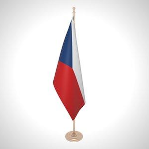 3D czechia flag