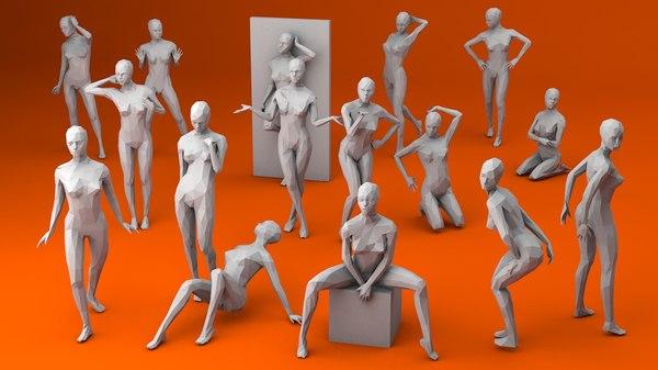 3D 16 women sexy model