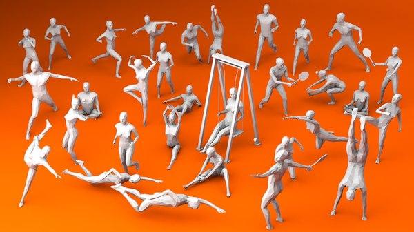 3D model sport outdoor activities
