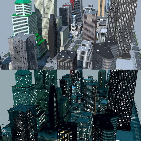 city a4 3D