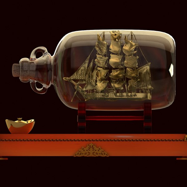 3D chinese ship bottle