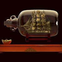 Chinese ship in bottle
