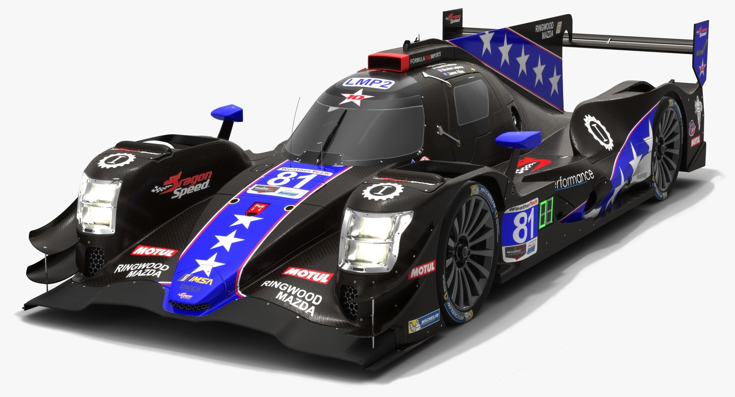 3D dragonspeed 81 oreca 07 model