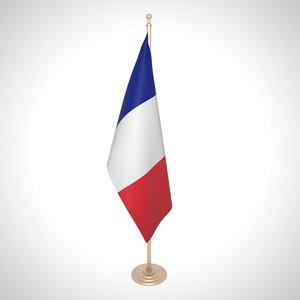 france flag 3D model