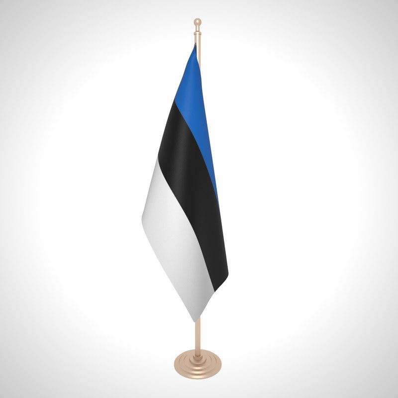 3D model estonia flag