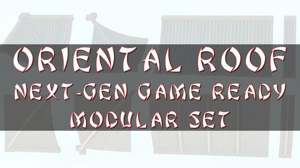 oriental roof modular elements 3D model