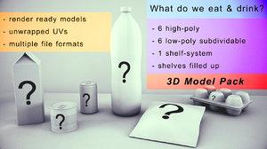 preservatives food drink question 3D