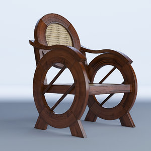 3D outdoor colonial chair