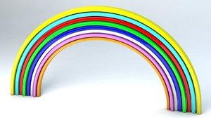 rainbow color 3D model