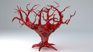 3D model crystal tree life