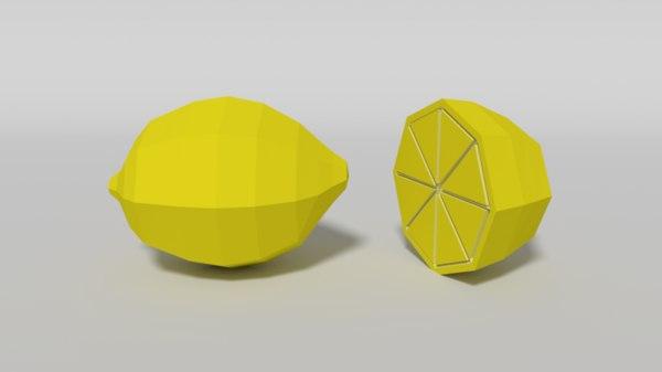 3D cartoon lemon