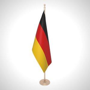 3D germany flag model