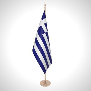 3D greece flag model