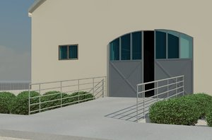 3D horse arena stable