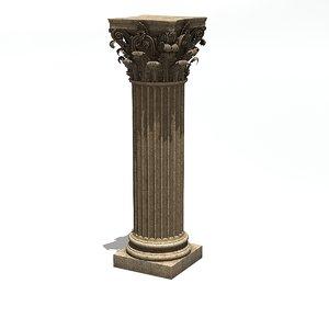 column corinthian capital 3D model