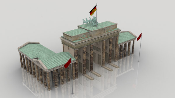 3D berlin brandenburg gate