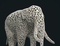 3D print elephant model