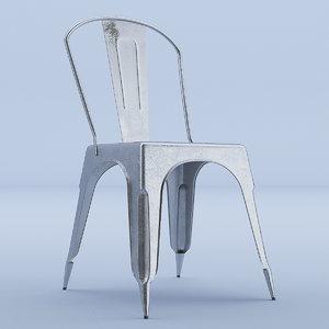 3D metal raw chair