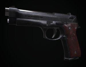 m9-beretta unwrapped pbr 3D