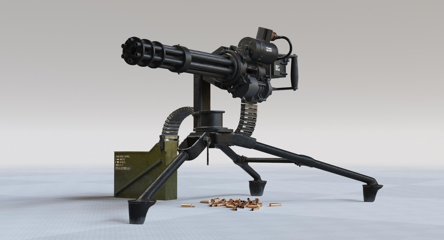 minigun gun 3D