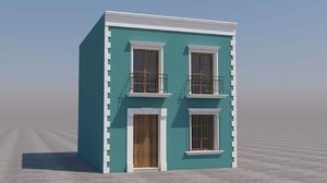 3D model mexican house games