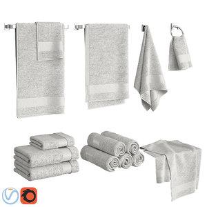 set towels model