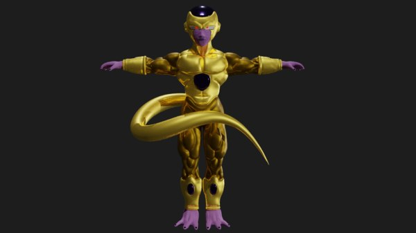 golden frieza 3D model