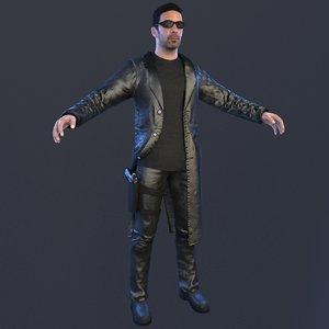 detective coat gun model