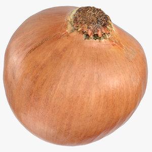3D onion yellow 01