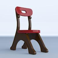 3D plastic kid s chair model