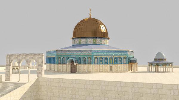 3D model al-aqsa jerusalem