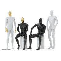 3D abstract male mannequins model