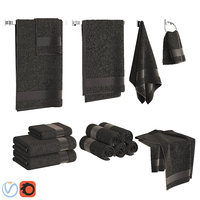 Black Towels Set