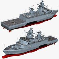 k130 corvette ships 3D