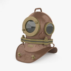 3D bolt diving helmet model