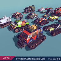 3D cars customizable model