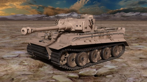 3D wwii army tank