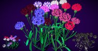 3D flower centaurea