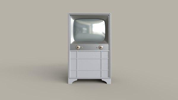 3D model classic television