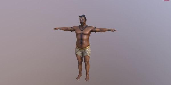 3D model servant character
