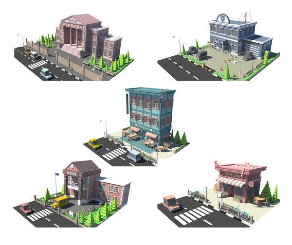 3D fivestore04 store
