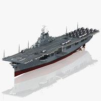 uss hornet cv-12 cv 3D model