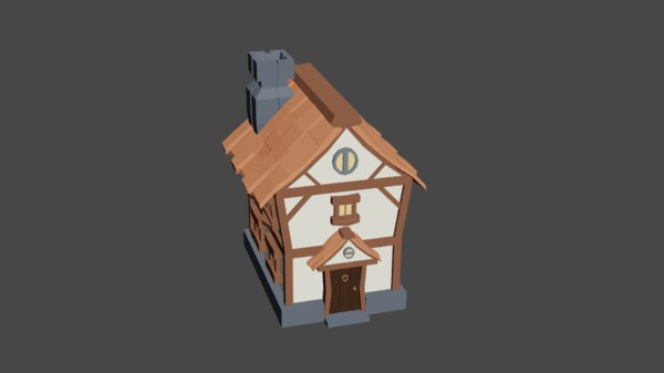house cartoon model