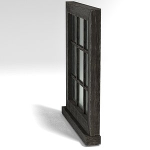 3D model medieval window small square