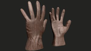pbr leather gloves 3D