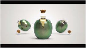 3D packaging oil design model