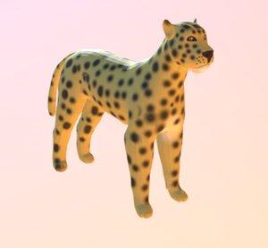 3D model cat big lion