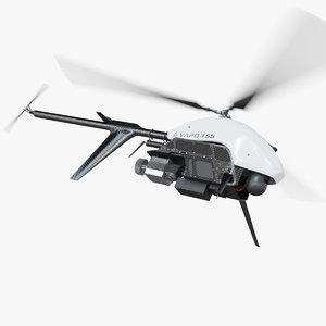 drone helicopter vrapor 55 3D model