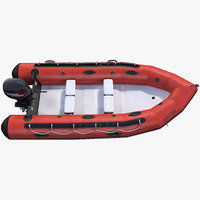 rigid-hulled inflatable boat motor 3D model