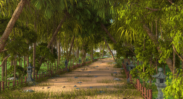 jungle road thailand 3D model